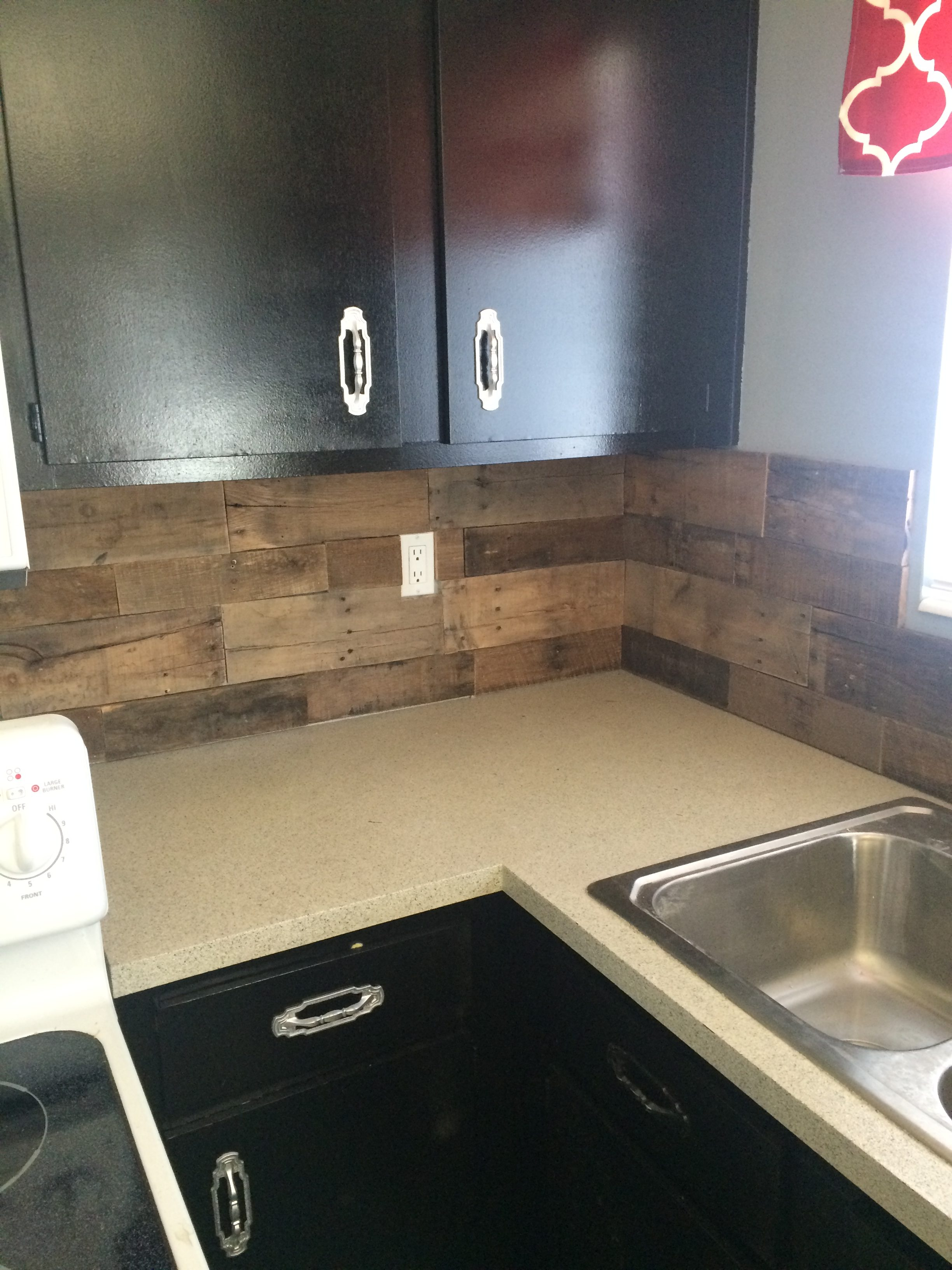 Pallet Wood Backsplash Pallet Wood Backsplash