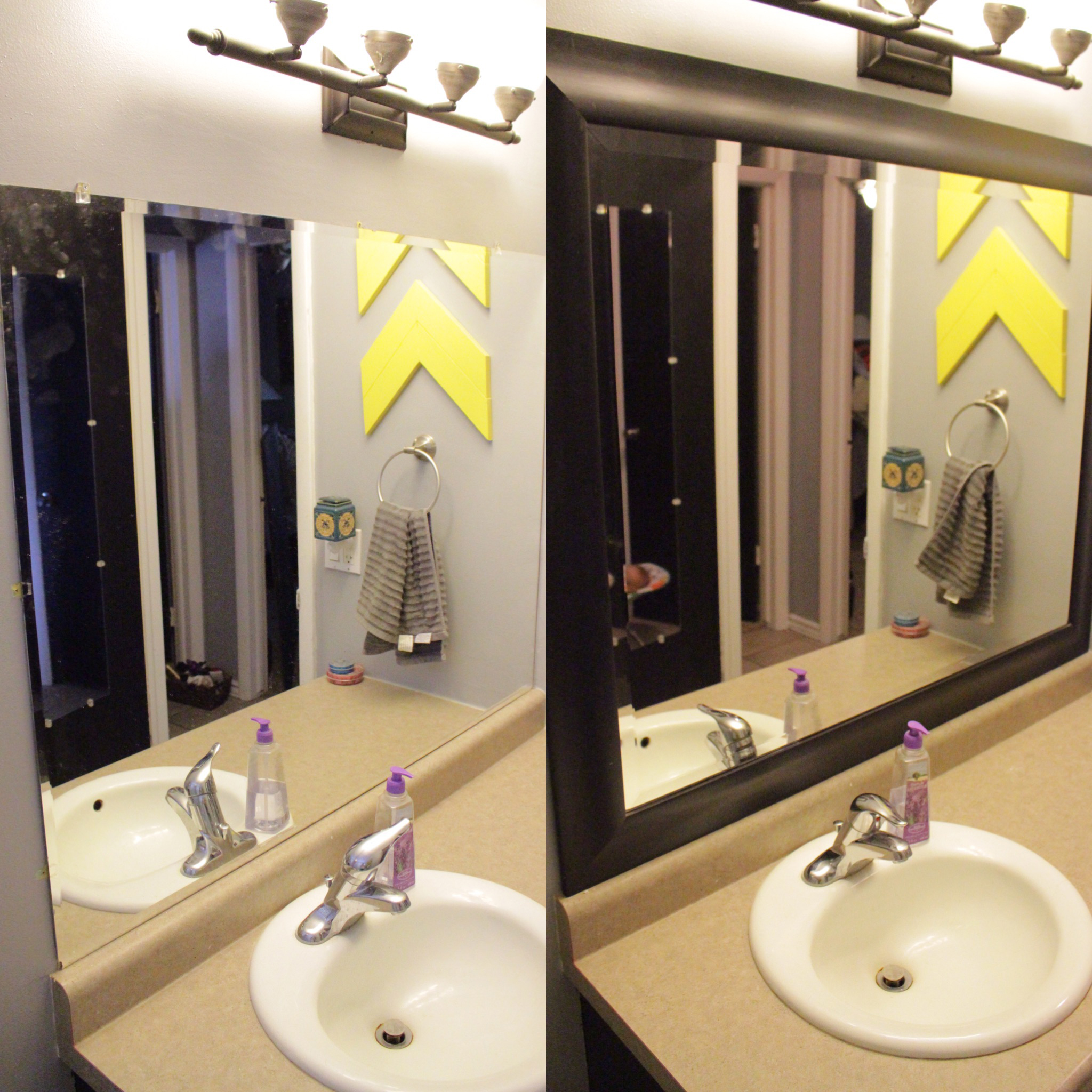 How Framing Your Bathroom Mirror Makes
