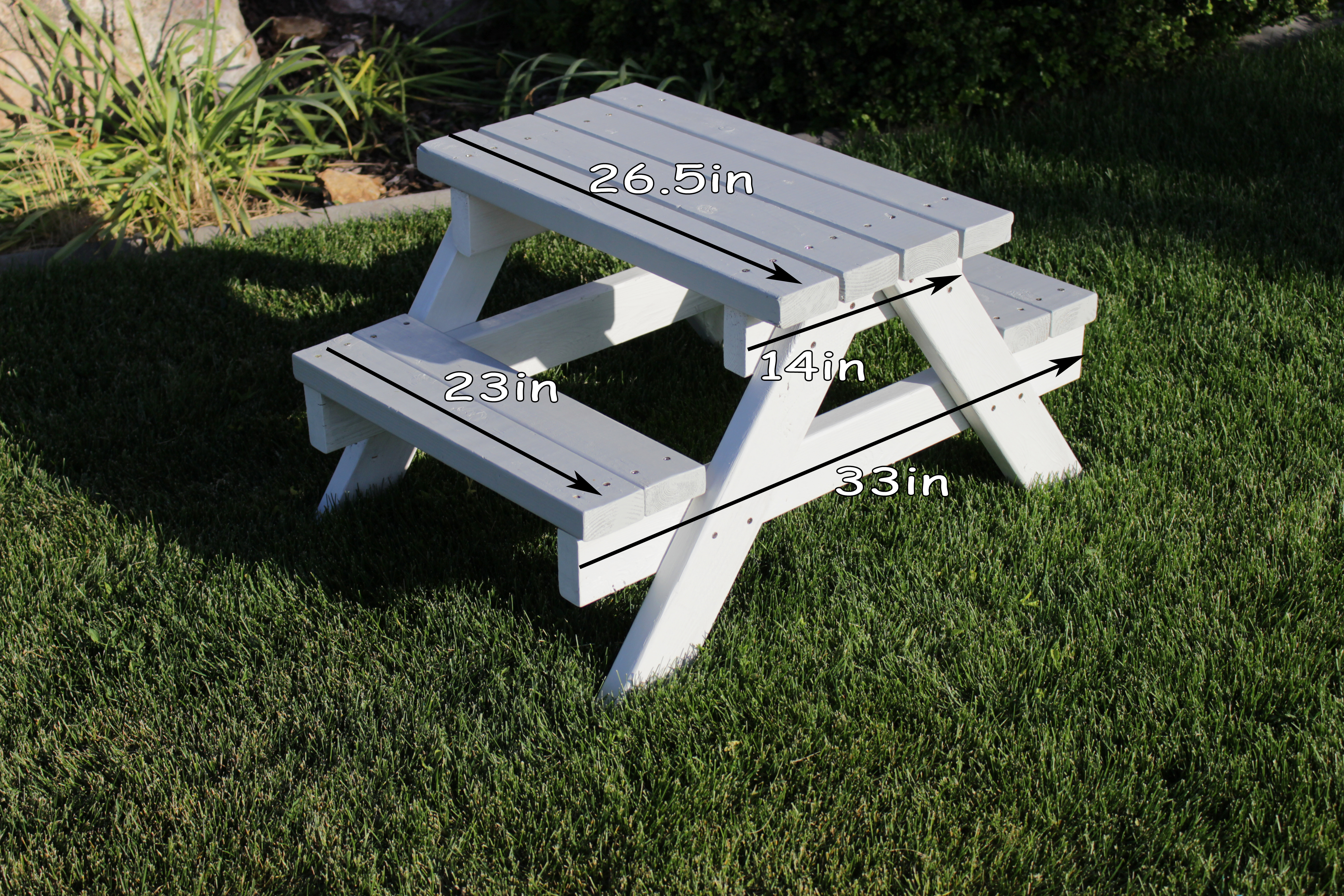 Kids Picnic Table Using Only S Simply House To Home - Picnic table leg angle